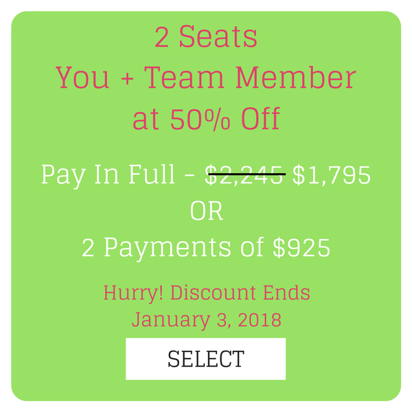2 SeatsYou + Team Member at 50% Off