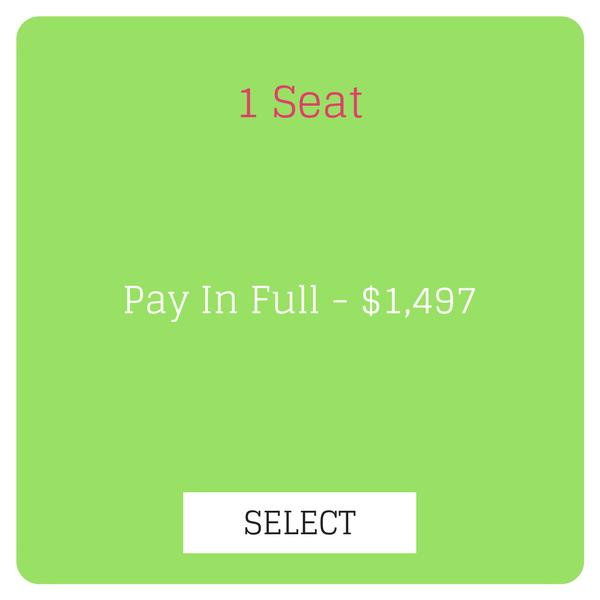 1 Seat Final Price